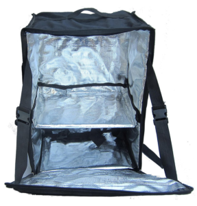 large backpack for pizza delivery on a bike